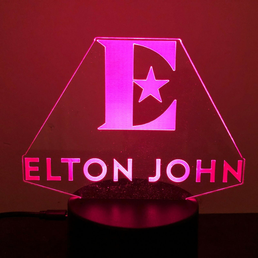 ELTON JOHN YELLOWBRICK ROAD 3D Acrylic LED 7 Colour Night Light Touch Lamp - Eyes Of The World