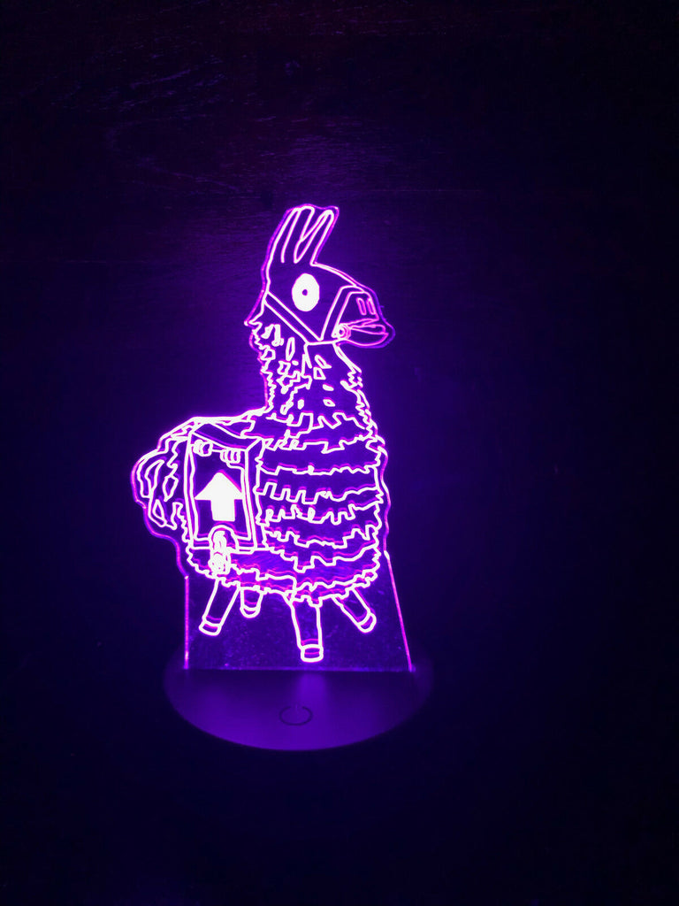 FORTNITE LLAMA LOOT 3D NIGHT LIGHTS - Eyes Of The World