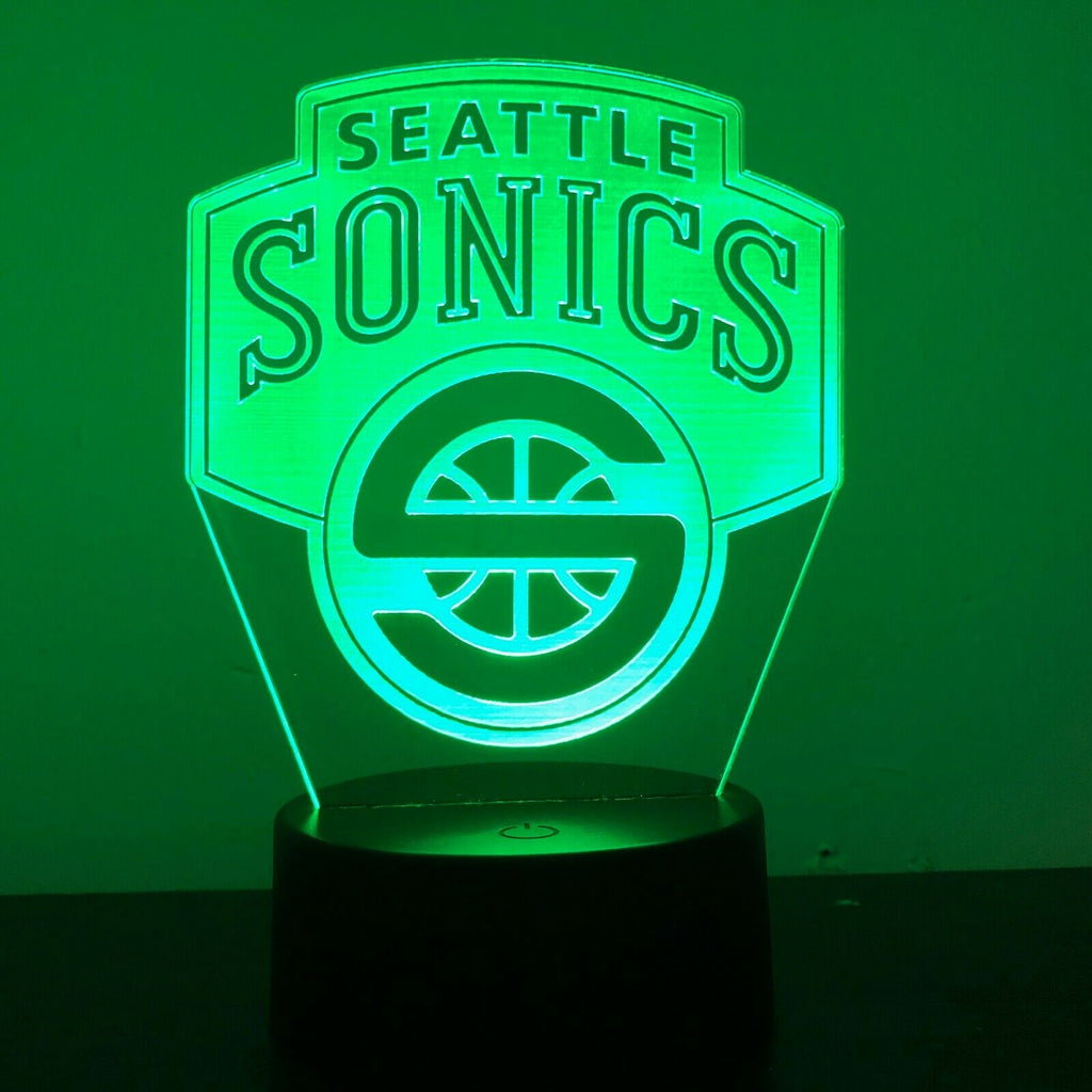 SEATTLE SUPERSONICS NBA BASKETBALL 3D NIGHT LIGHT - Eyes Of The World