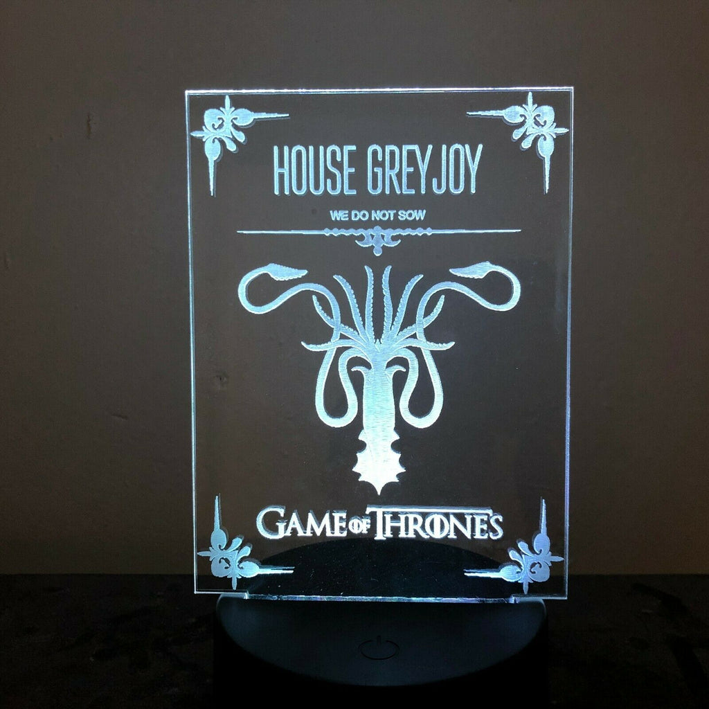 HOUSE GREY JOY GAME OF THRONES 3D Acrylic LED 7 Colour Night Light Table Lamp - Eyes Of The World