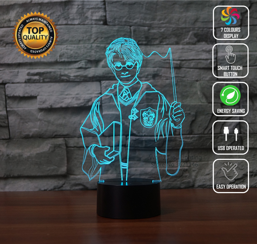 HARRY POTTER 3D NIGHT LIGHT - Eyes Of The World