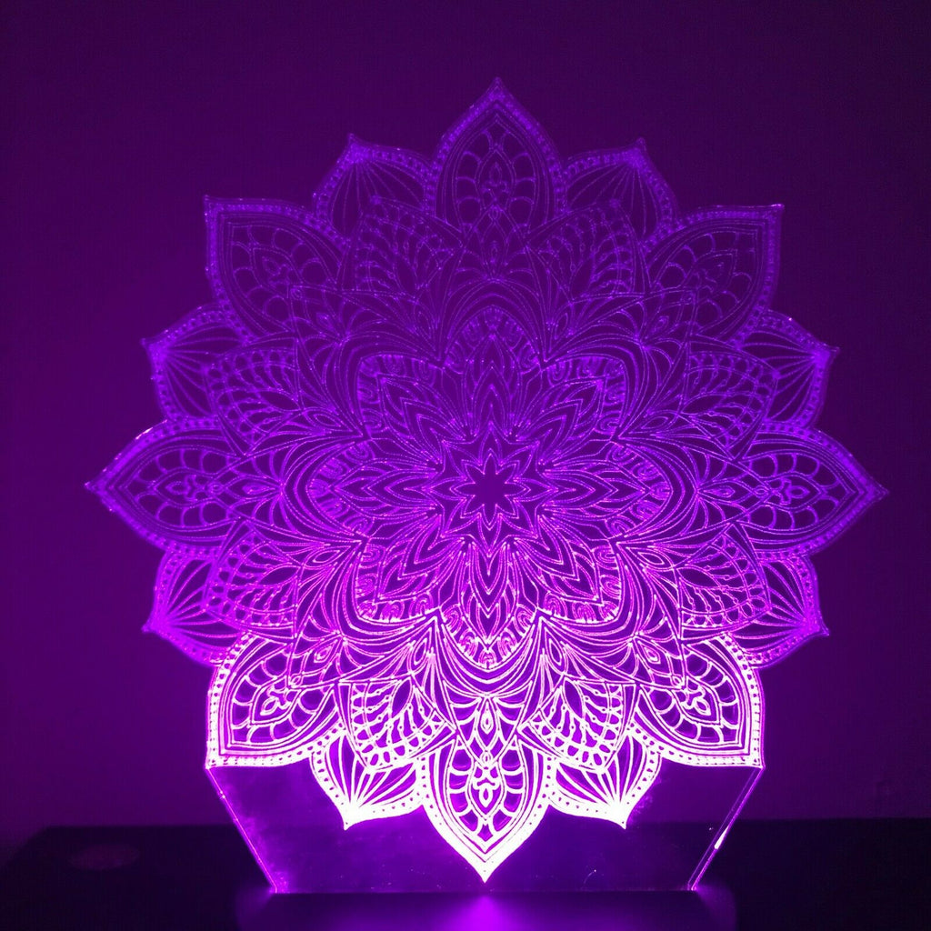 Mandala Chakra Spiritual Gift 3D NIGHT LIGHT - Eyes Of The World