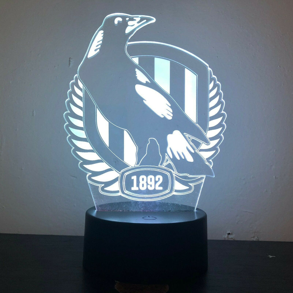COLLINGWOOD MAGPIES FOOTBALL AFL 3D NIGHT LIGHT - Eyes Of The World