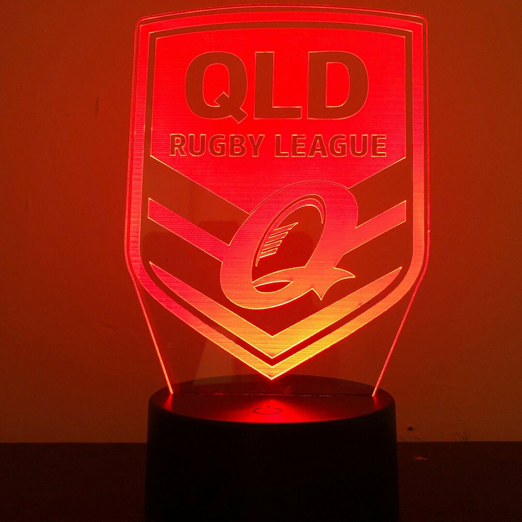QLD MAROONS STATE OF ORIGIN NRL 3D NIGHT LIGHT - Eyes Of The World