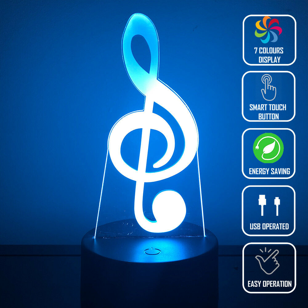 MUSICAL NOTE 3D NIGHT LIGHT - Eyes Of The World