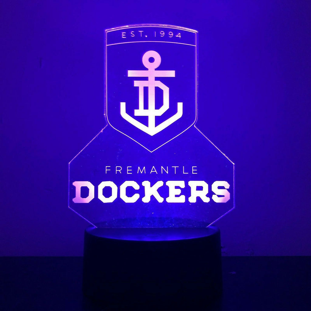 FREEMANTLE DOCKER AFL FOOTY 3D NIGHT LIGHT - Eyes Of The World