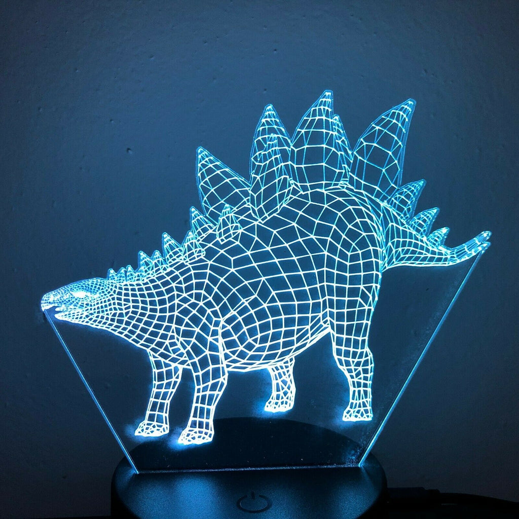 Stegosaurus Dinosaur 3D NIGHT LIGHT - Eyes Of The World