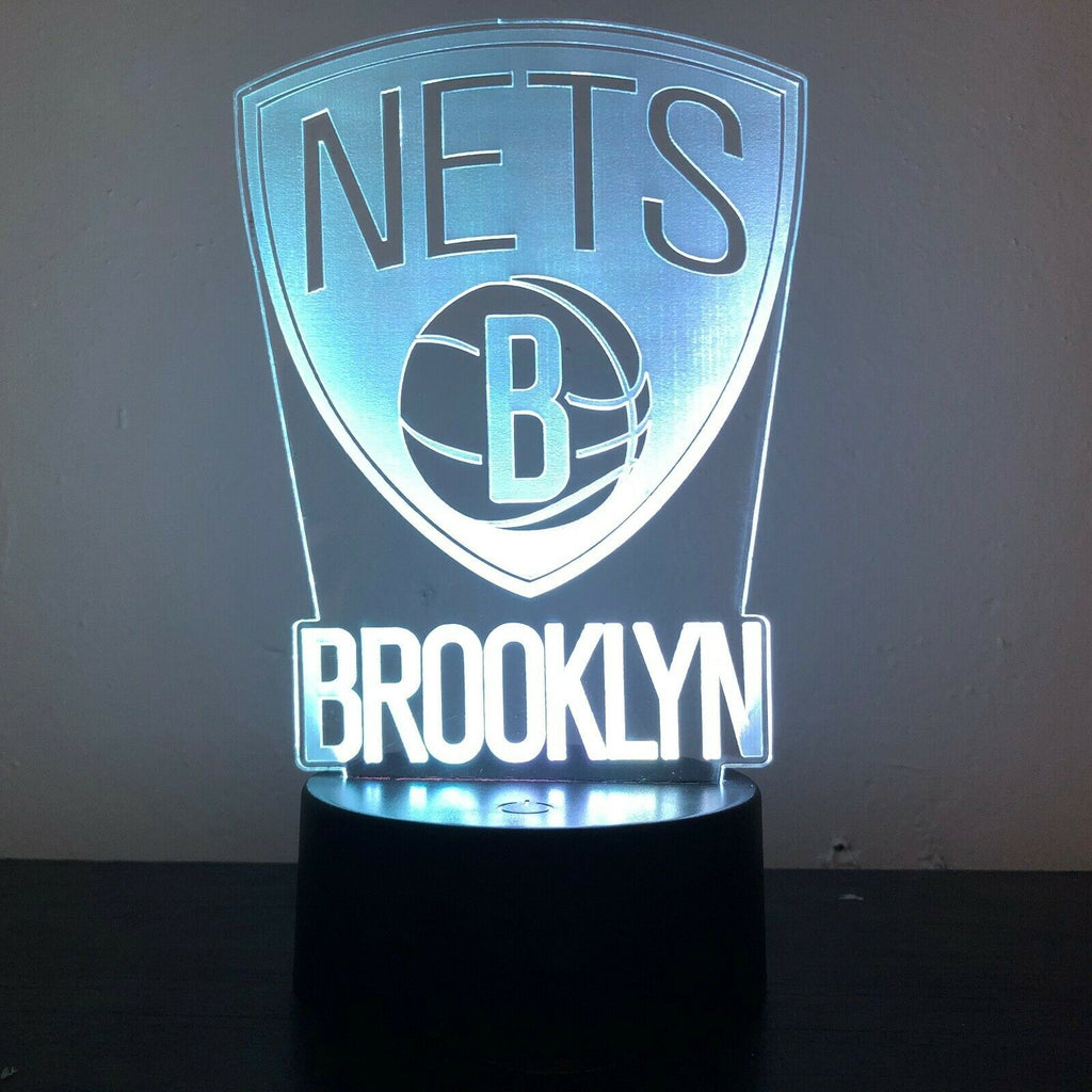 BROOKLYN NETS BASKETBALL 3D NIGHT LIGHT - Eyes Of The World