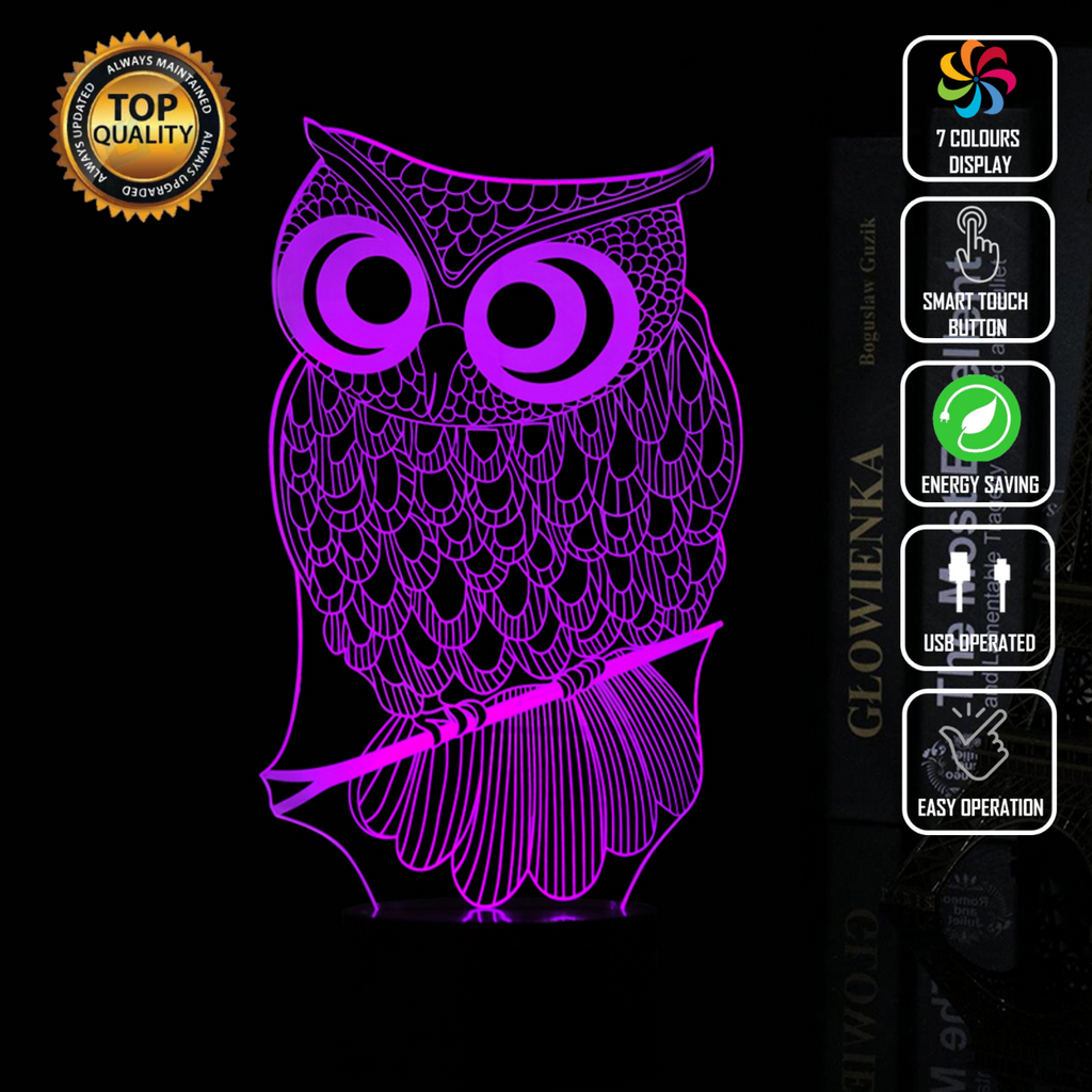 OWL ORIGAMI 3D NIGHT LIGHT - Eyes Of The World