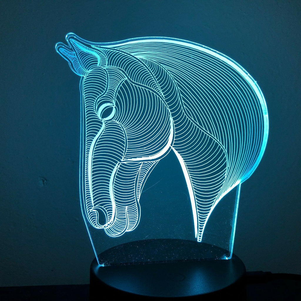 HORSE HEAD COWBOY 3D NIGHT LIGHT - Eyes Of The World