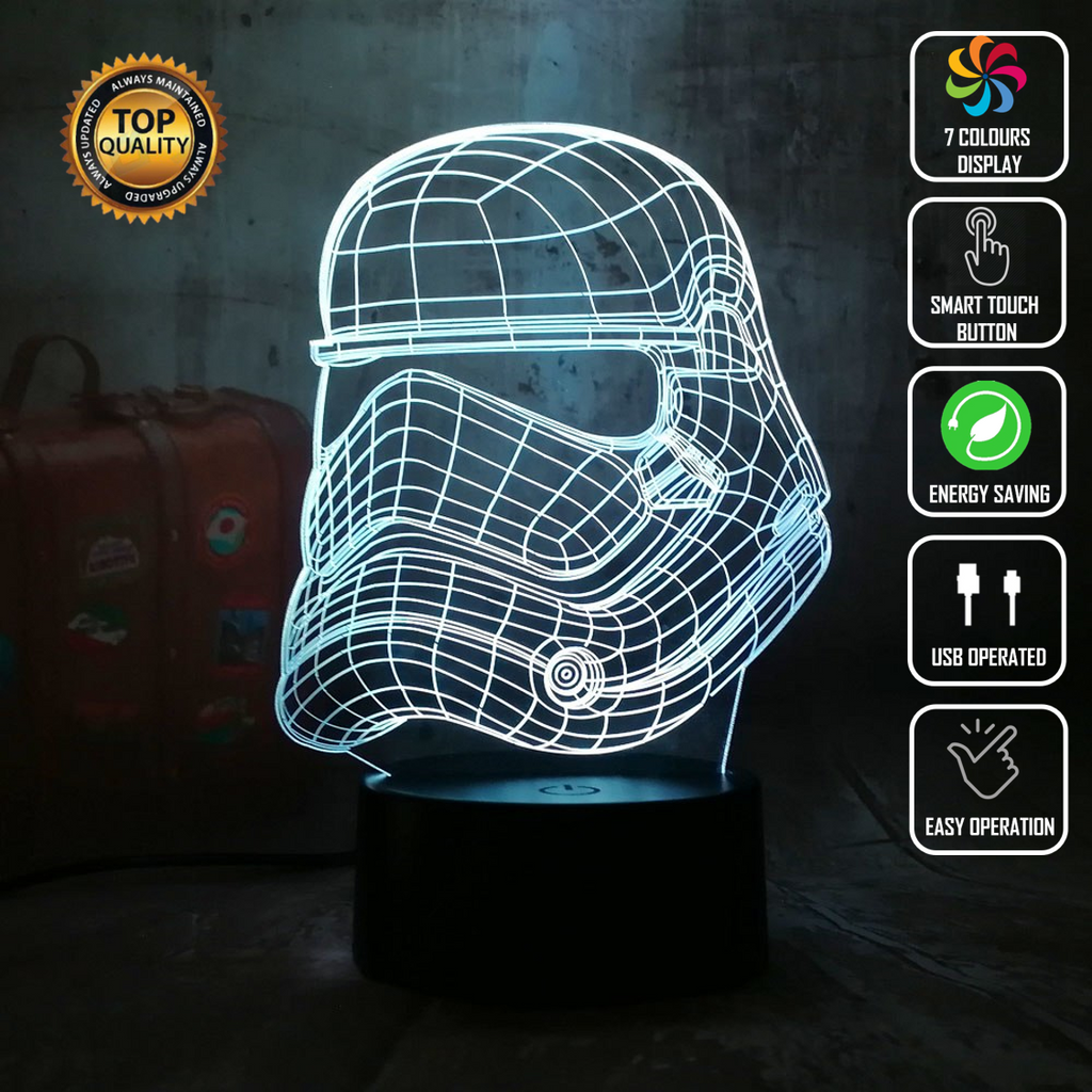 STAR WARS STORMTROOPER 3D NIGHT LIGHT - Eyes Of The World