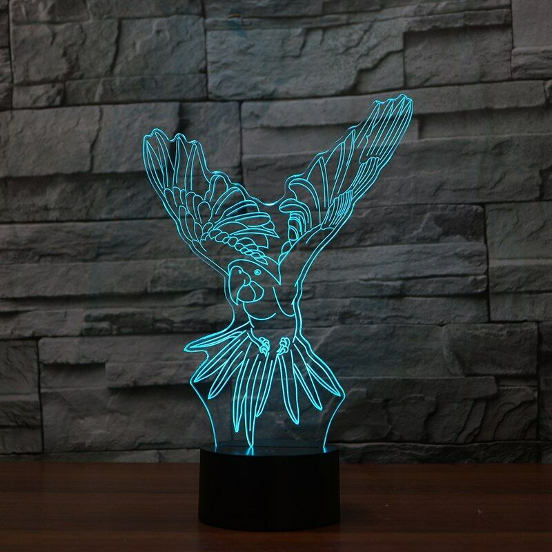 Parrot Macaw Flying 3D NIGHT LIGHT - Eyes Of The World