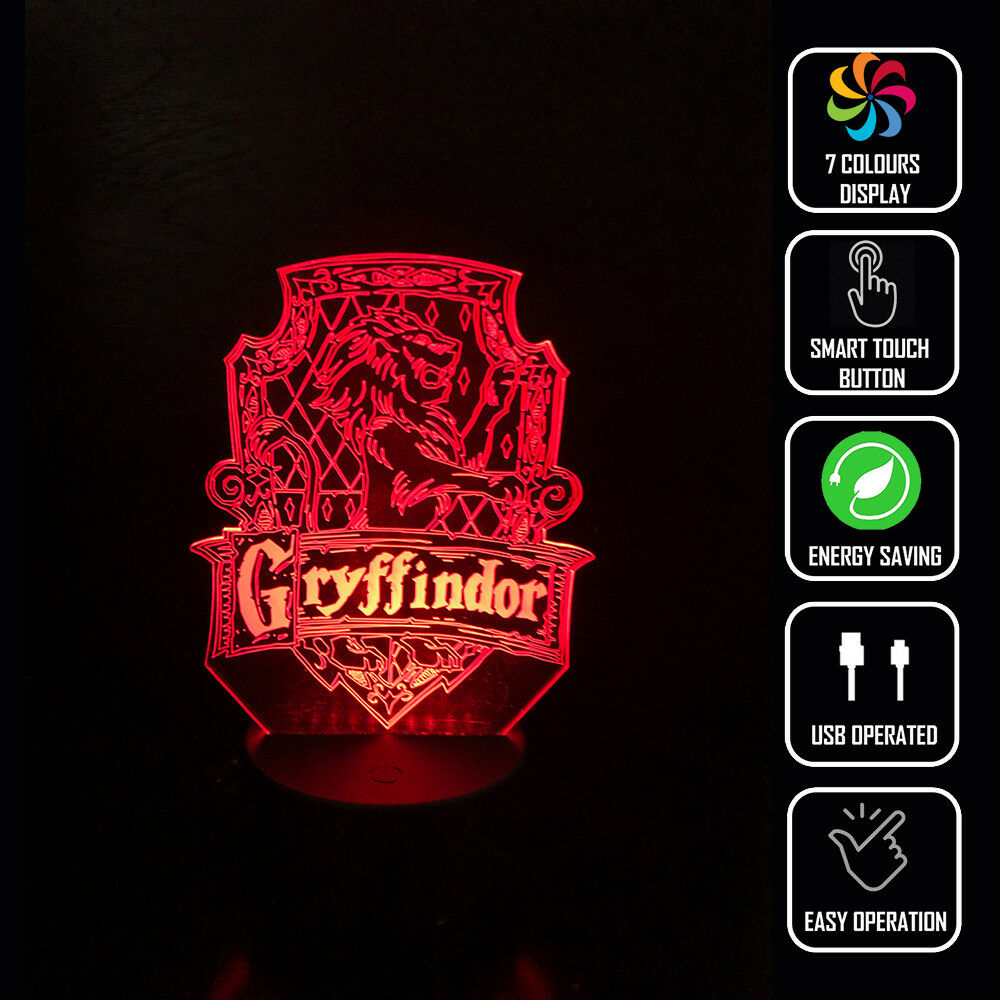 GRYFFINDOR HARRY POTTER 3D NIGHT LIGHT - Eyes Of The World