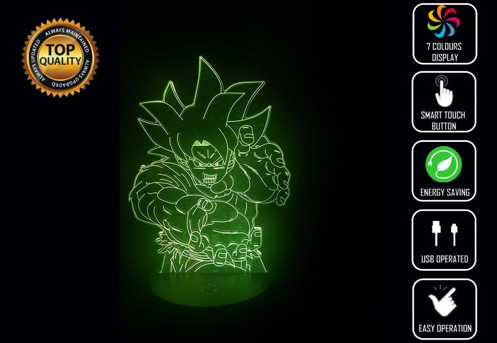 GOKU SUPER SAIYAN DBZ 3D NIGHT LIGHT - Eyes Of The World