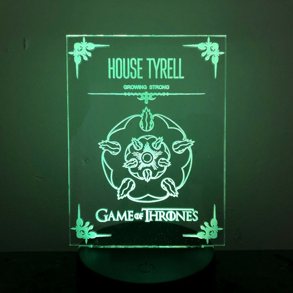 HOUSE TYRELL GAME OF THRONES 3D Acrylic LED 7 Colour Night Light Table Lamp - Eyes Of The World