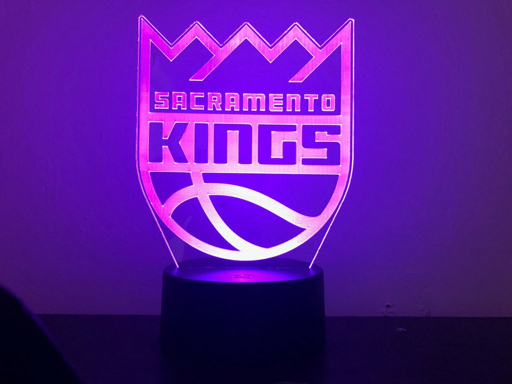 SACRAMENTO KINGS NBA BASKETBALL 3D NIGHT LIGHT - Eyes Of The World