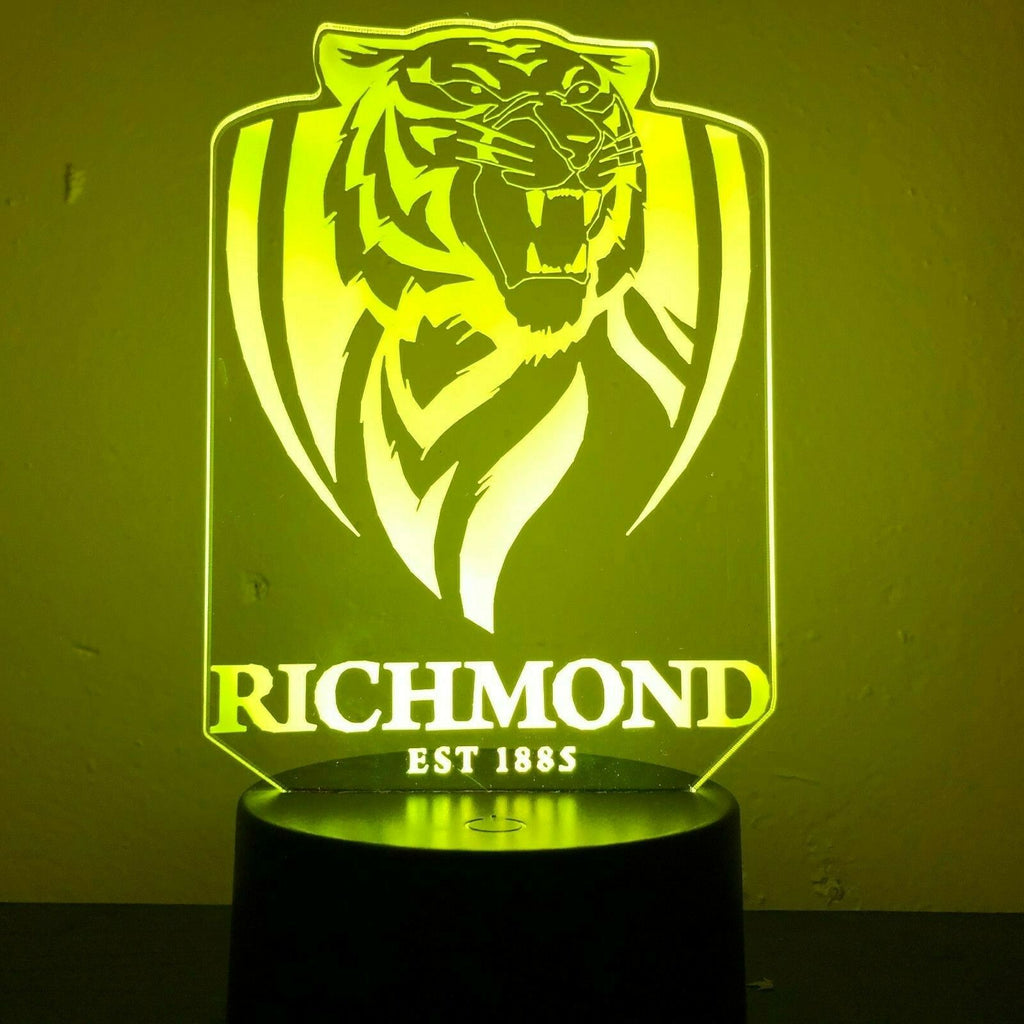 RICHMOND TIGERS AFL FOOTY 3D NIGHT LIGHT - Eyes Of The World