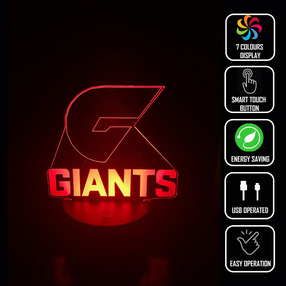 GWS GIANTS FOOTBALL AFL 3D - Eyes Of The World