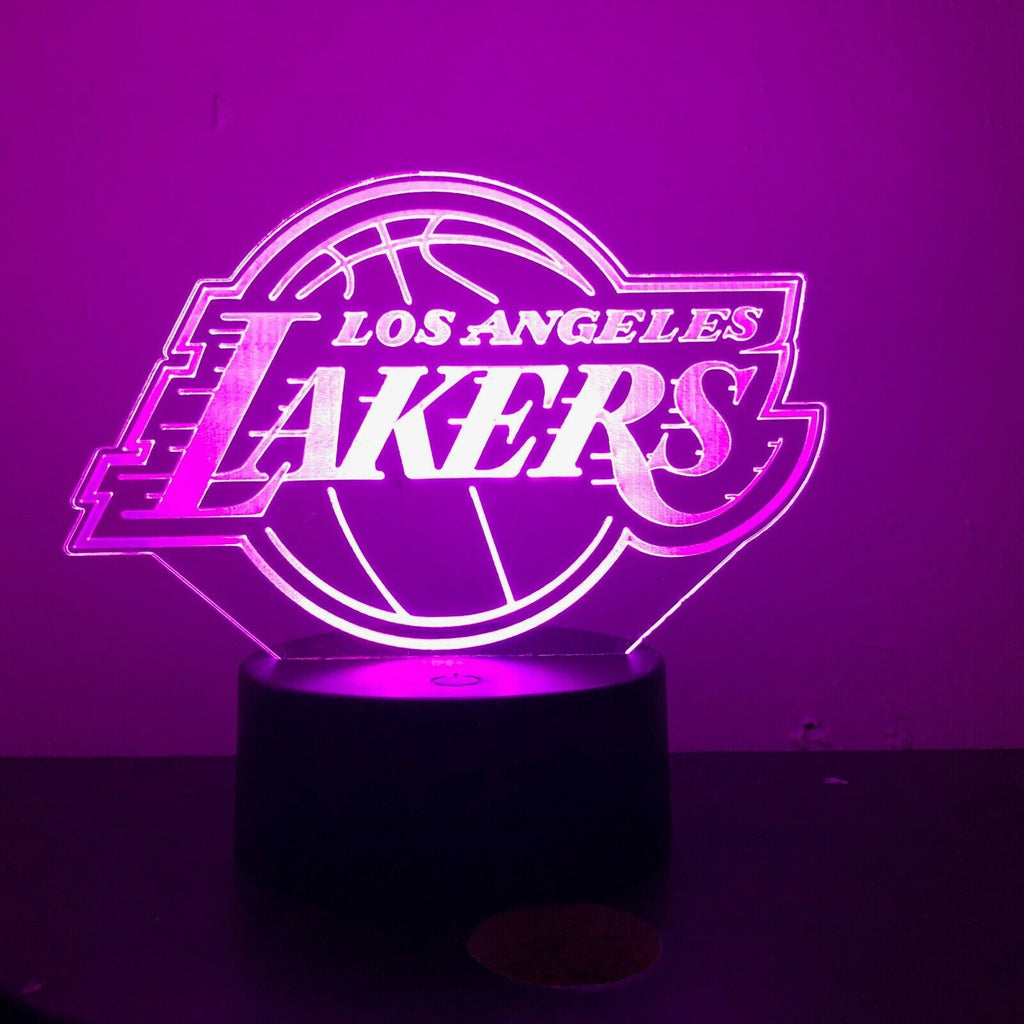 LA LAKERS BASKETBALL 3D NIGHT LIGHT - Eyes Of The World