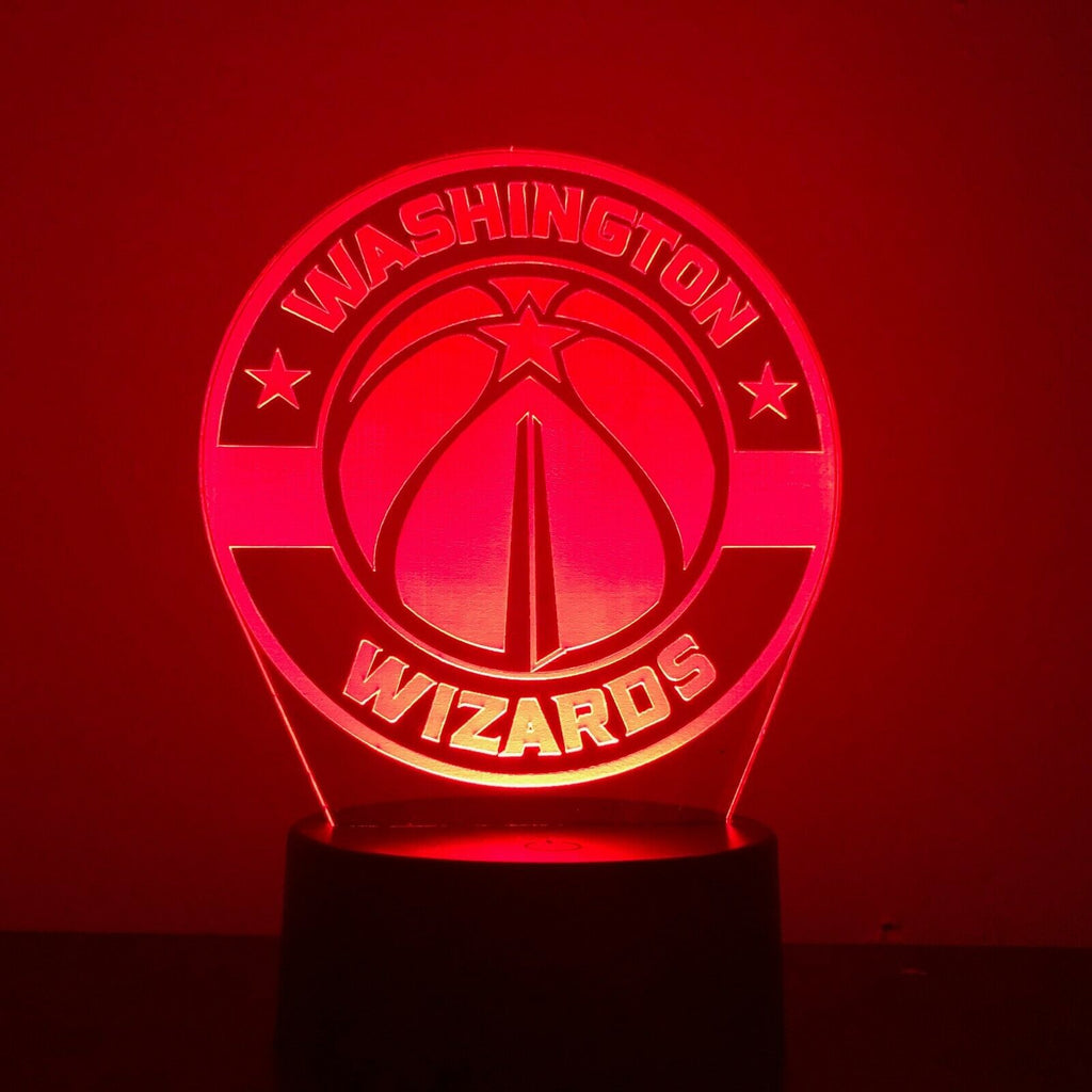 WASHINGTON WIZARDS NBA BASKETBALL 3D NIGHT LIGHT - Eyes Of The World