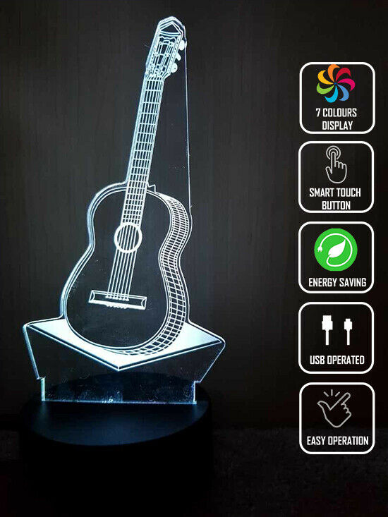 ACOUSTIC GUITAR MUSIC 3D NIGHT LIGHT - Eyes Of The World