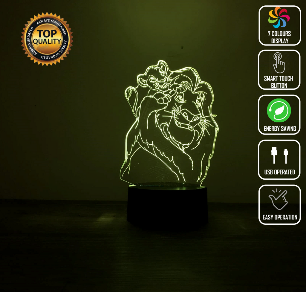 LION KING 3D NIGHT LIGHT - Eyes Of The World