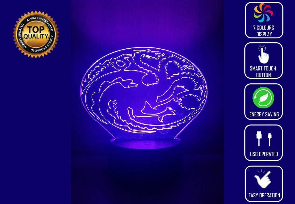 HOUSE TARGARYEN GOT 3D NIGHT LIGHT - Eyes Of The World
