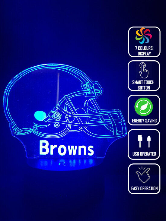 CLEVELAND BROWNS FOOTBALL 3D NIGHT LIGHT - Eyes Of The World