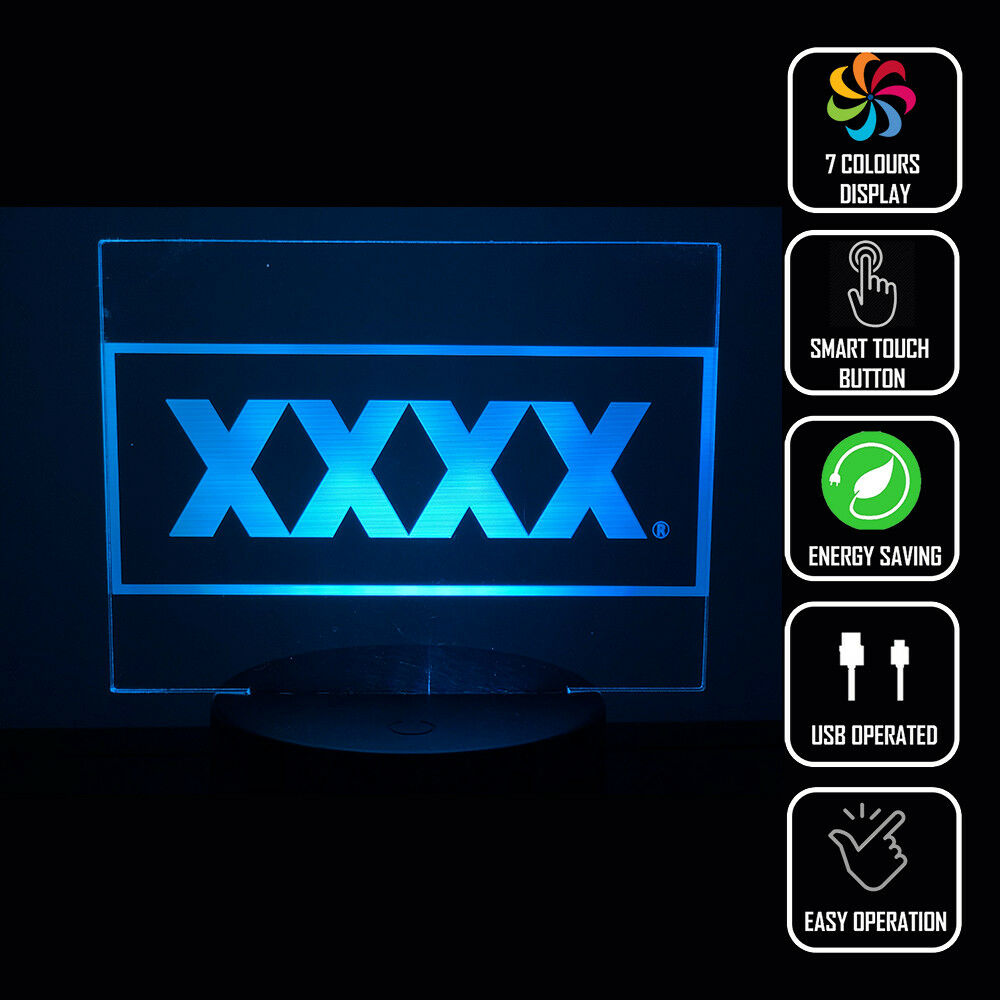 XXXX AUSSIE BEER 3D NIGHT LIGHT - Eyes Of The World