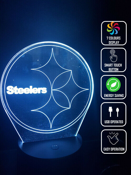 PITTSBURGH STEELER FOOTBALL 3D NIGHT LIGHT - Eyes Of The World