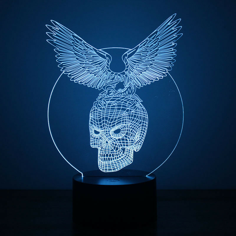 EAGLE ON SKULL 3D NIGHT LIGHT - Eyes Of The World