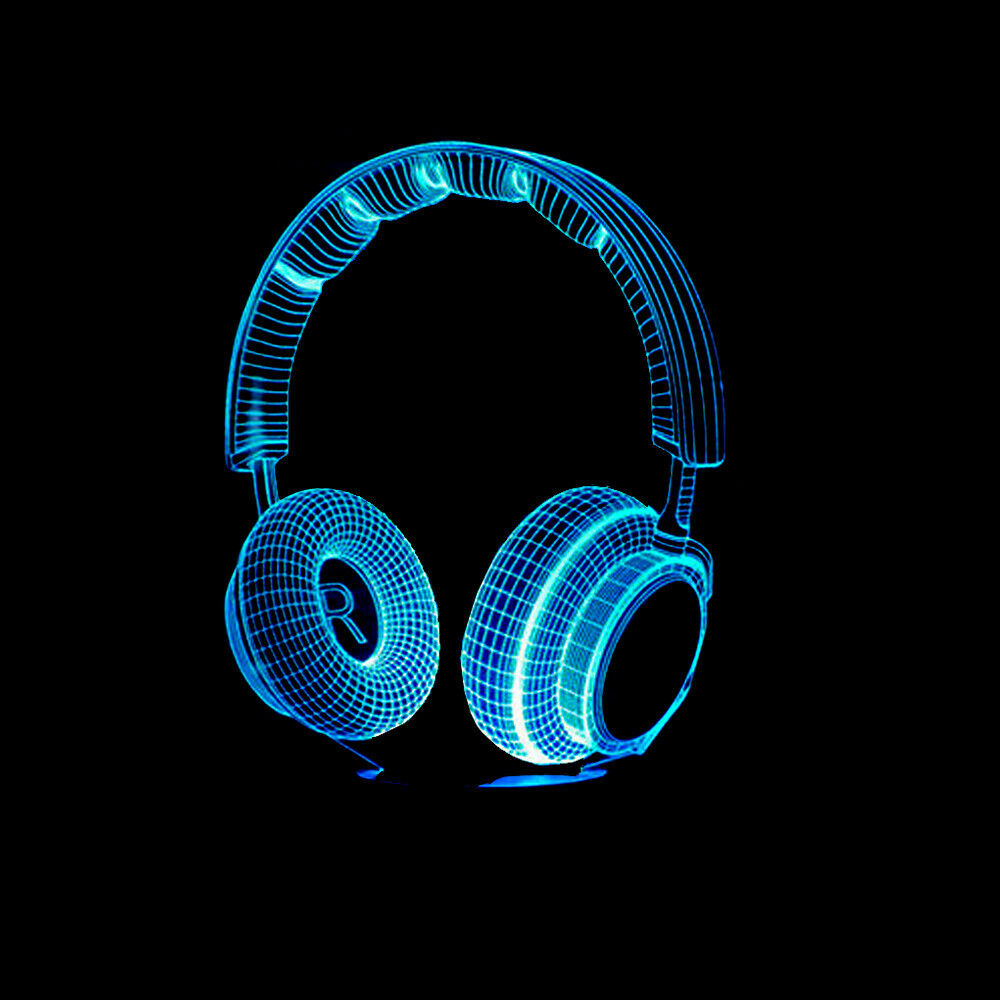 DJ HEADPHONES 3D NIGHT LIGHT - Eyes Of The World