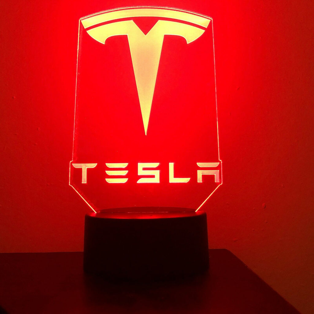 TESLA MOTORS ELECTRIC 3D NIGHT LIGHT - Eyes Of The World
