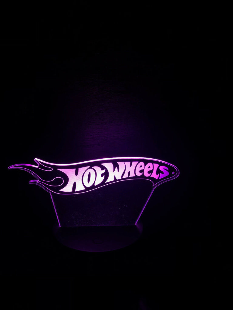 HOT WHEELS TOY CAR MODEL 3D NIGHT LIGHTS - Eyes Of The World