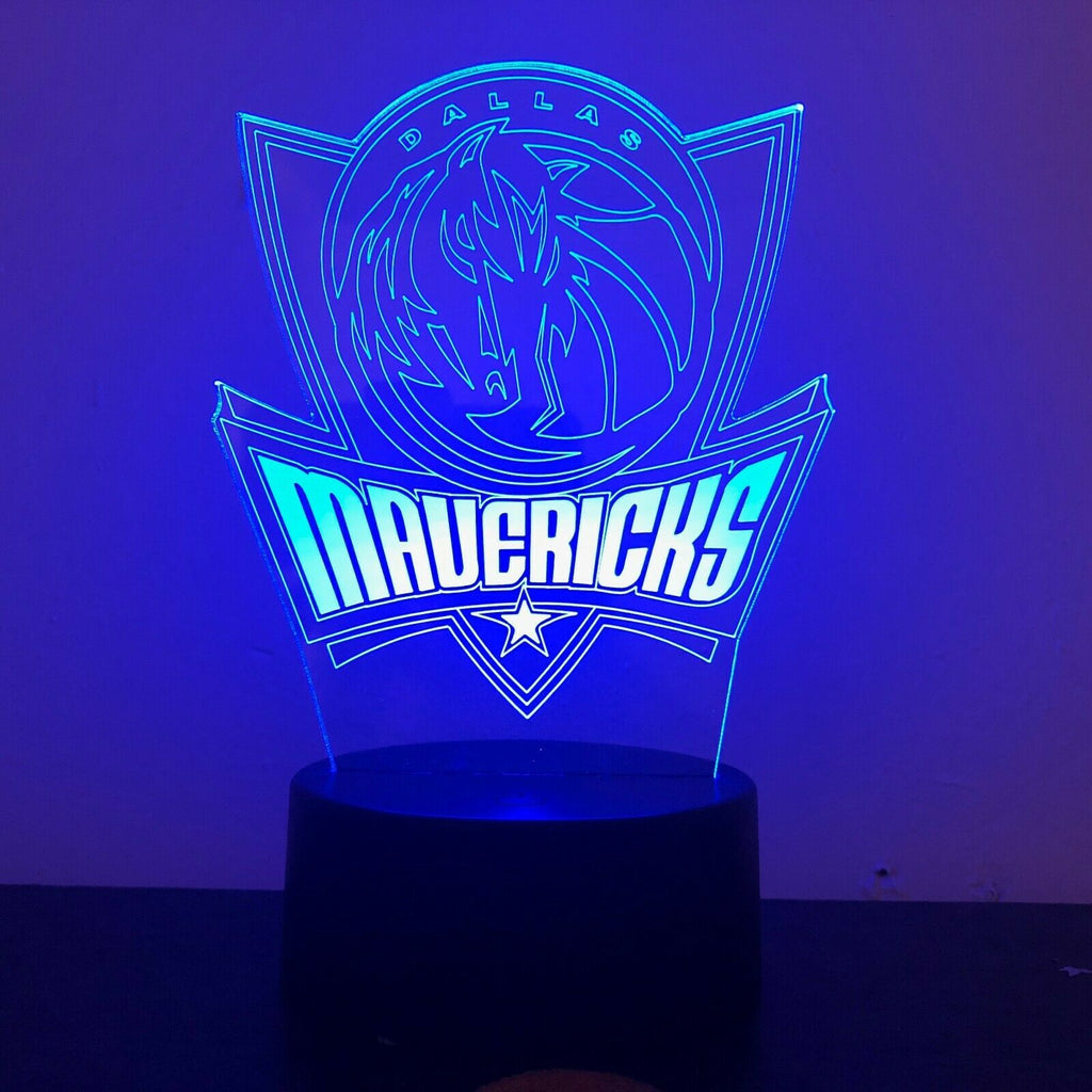 DALLAS MAVERICKS BASKETBALL 3D NIGHT LIGHT - Eyes Of The World