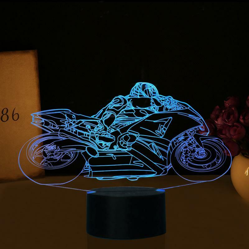 DIRT BIKE MOTOCROSS 3D Acrylic LED 7 Colour Night Light Touch Table Lamp Gift - Eyes Of The World