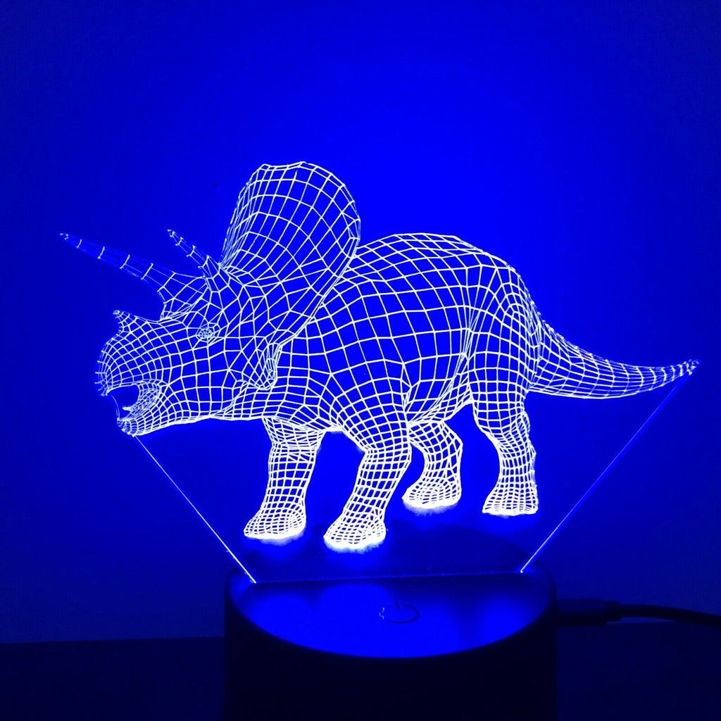 Triceratops Dinosaur 3D NIGHT LIGHT - Eyes Of The World