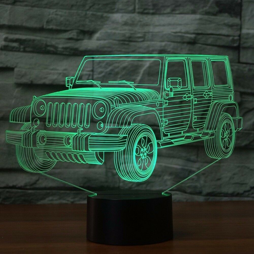 JEEP 4x4 OFF ROAD SUV 3D NIGHT LIGHT - Eyes Of The World
