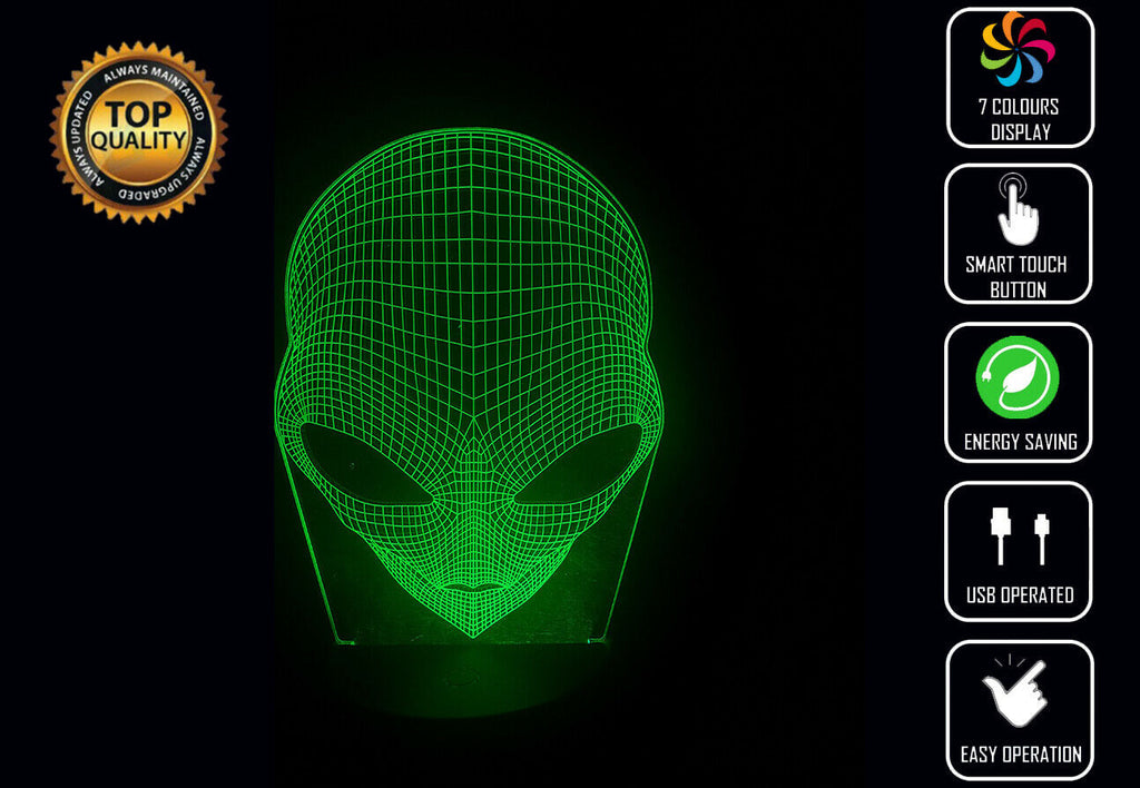 ALIEN 3D NIGHT LIGHT - Eyes Of The World