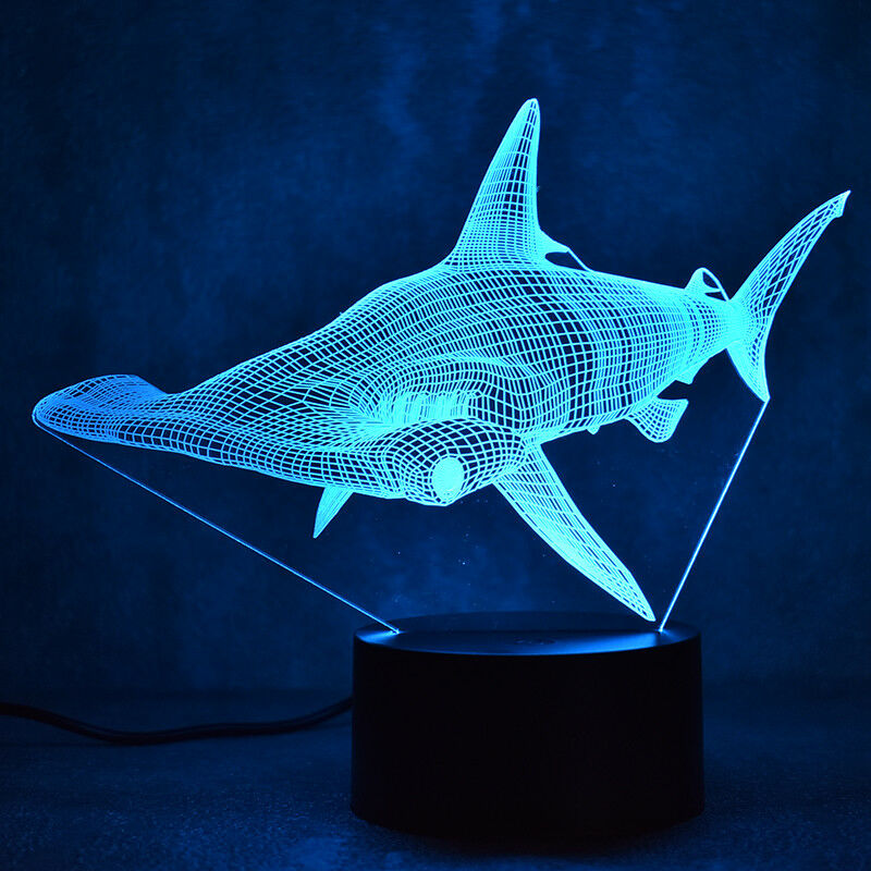 HAMMERHEAD SHARK 3D NGHT LIGHT - Eyes Of The World