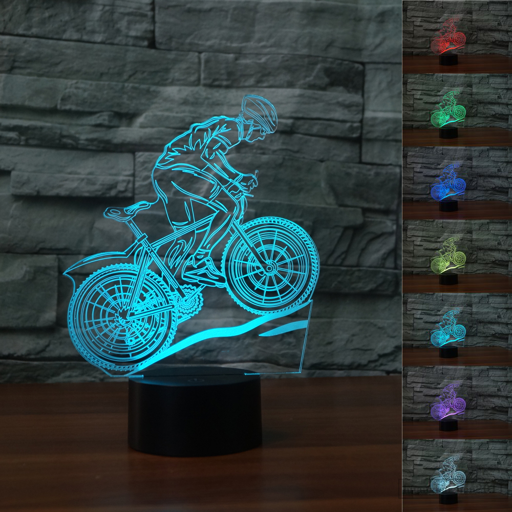 MTB Bycicle Motocross 3D NIGHT LIGHT - Eyes Of The World