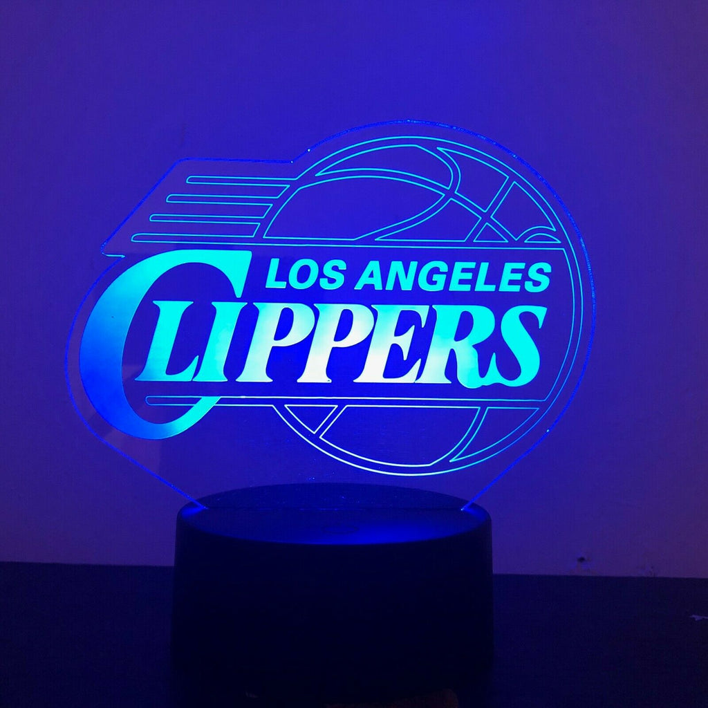 LA CLIPPERS NBA BASKETBALL 3D NIGHT LIGHT - Eyes Of The World