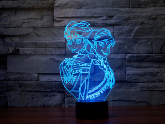 ELSA FROZEN 3D NIGHT LIGHT - Eyes Of The World
