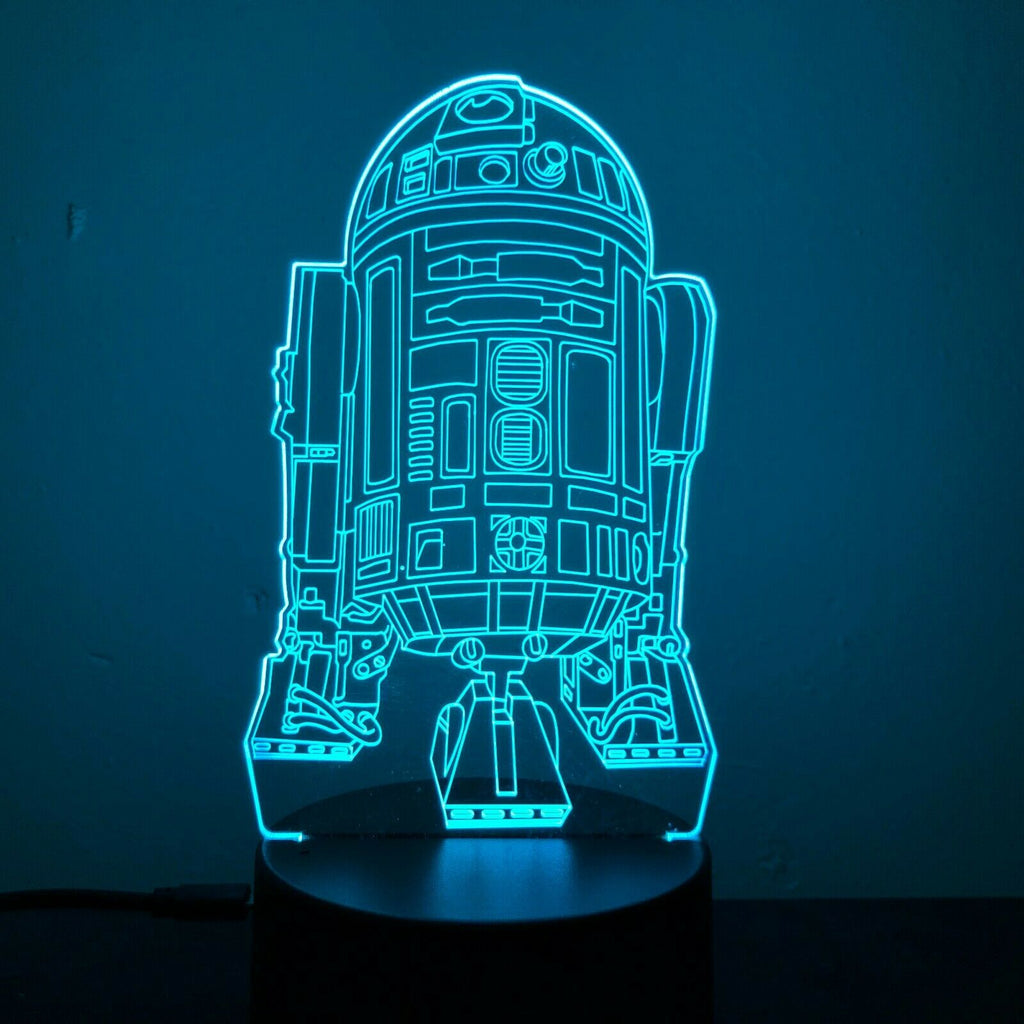 R2D2 DROID STAR WARS 3D NIGHT LIGHT - Eyes Of The World
