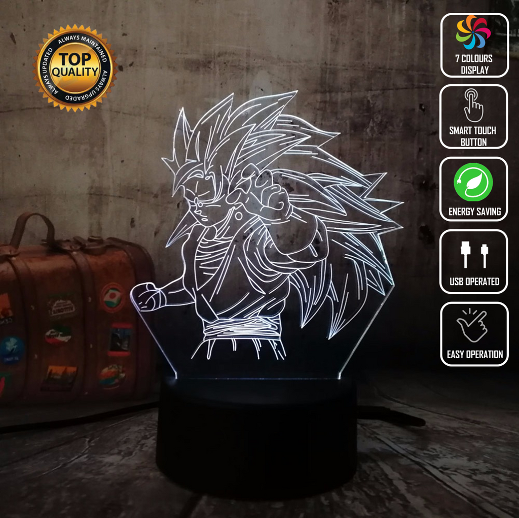 GOKU SAIYAN DRAGON BALL Z 3D NIGHT LIGHT - Eyes Of The World