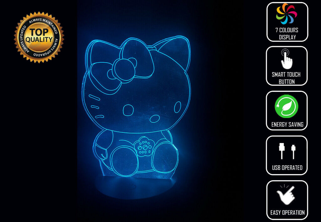 HELLO KITTY 3D NIGHT LIGHT - Eyes Of The World