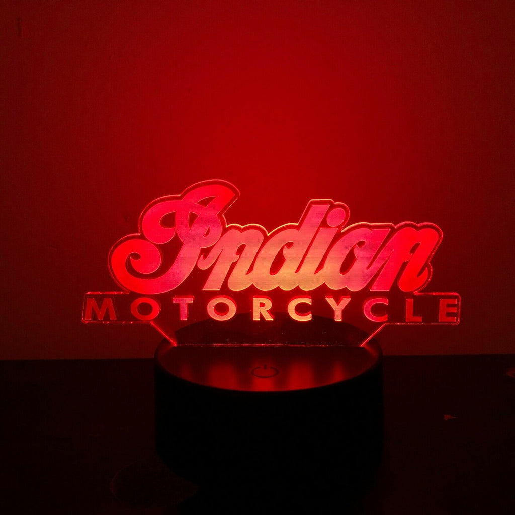 INDIAN MOTORCYCLE 3D NIGHT LIGHT - Eyes Of The World