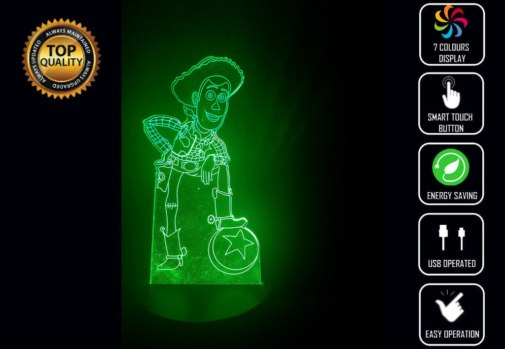 WOODY TOY STORY 3D NIGHT LIGHT - Eyes Of The World