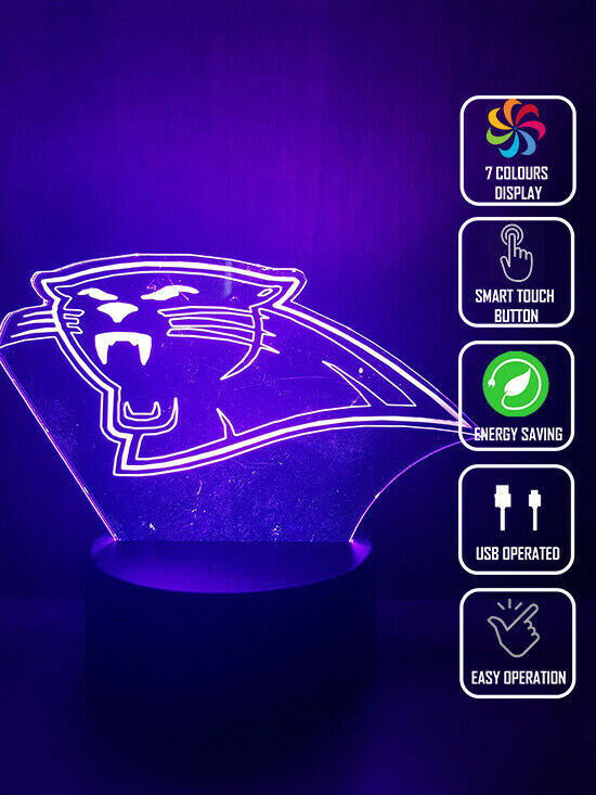 CAROLINA PANTHERS FOOTBALL 3D NIGHT LIGHT - Eyes Of The World
