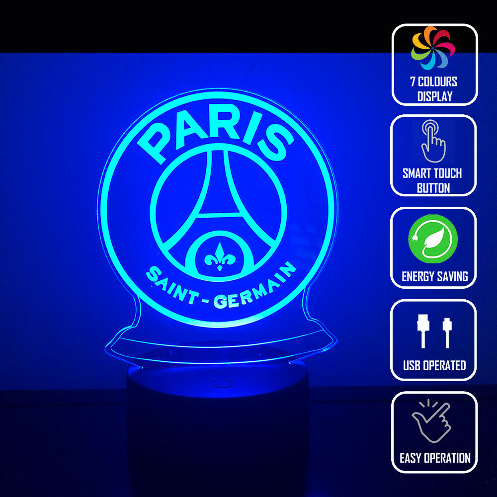 PSG PARIS SAINT GERMAIN 3D NIGHT LIGHT - Eyes Of The World